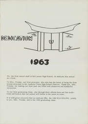 Page 5, 1963 Edition, Ball Junior High School - Blackhawk Yearbook (Anaheim, CA) online yearbook collection