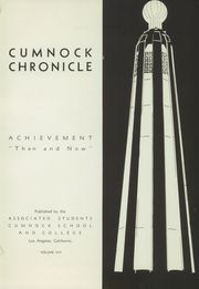 Page 7, 1938 Edition, Cumnock School - Chronicle Yearbook (Los Angeles, CA) online yearbook collection