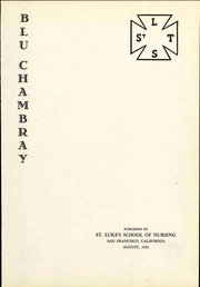 Page 7, 1942 Edition, St Lukes Hospital School of Nursing - Blu Chambray Yearbook (San Francisco, CA) online yearbook collection