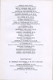 Page 10, 1912 Edition, University of the Pacific School of Dentistry - Chips Yearbook (San Francisco, CA) online yearbook collection