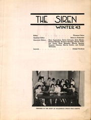 Page 3, 1943 Edition, Hollenbeck Junior High School - Siren Yearbook (Los Angeles, CA) online yearbook collection