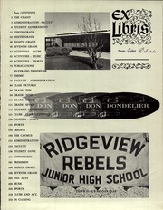 Page 5, 1965 Edition, Napa Valley Middle Schools - Silverado Yearbook (Napa, CA) online yearbook collection
