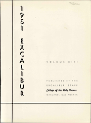 Page 5, 1951 Edition, Holy Names University - Excalibur Yearbook (Oakland, CA) online yearbook collection