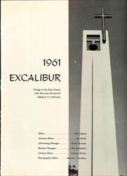 Page 5, 1961 Edition, Holy Names University - Excalibur Yearbook (Oakland, CA) online yearbook collection