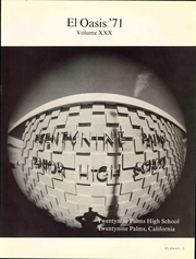 Page 7, 1971 Edition, Twentynine Palms High School - El Oasis Yearbook (Twentynine Palms, CA) online yearbook collection