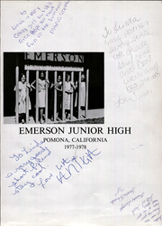 Page 5, 1978 Edition, Emerson Junior High School - Blue Dart Yearbook (Pomona, CA) online yearbook collection