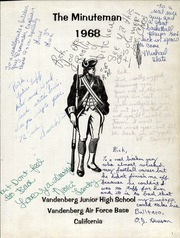 Page 3, 1968 Edition, Vandenberg Middle School - Minuteman Yearbook (Lompoc, CA) online yearbook collection
