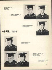 Page 29, 1952 Edition, Los Angeles Chiropractic College - Aesculapian Yearbook (Los Angeles, CA) online yearbook collection