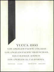 Page 5, 1960 Edition, Los Angeles Pacific College - Yucca Yearbook (Los Angeles, CA) online yearbook collection