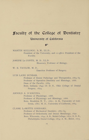 Page 14, 1899 Edition, UCSF School of Dentistry - Chaff Yearbook (San Francisco, CA) online yearbook collection