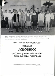 Page 5, 1965 Edition, La Colina Junior High School - Acrobiblos Yearbook (Santa Barbara, CA) online yearbook collection