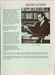 Page 9, 1969 Edition, West Coast Bible College - Sentinel Yearbook (Fresno, CA) online yearbook collection