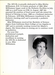 Page 8, 1972 Edition, LA County Medical Center School of Nursing - Rx Yearbook (Los Angeles, CA) online yearbook collection