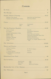 Page 5, 1926 Edition, San Francisco Hospital School of Nursing - Cap and Seal Yearbook (San Francisco, CA) online yearbook collection