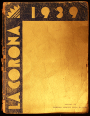 1939 Edition, Corona Junior High School - La Corona Yearbook (Corona, CA)