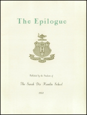 Page 11, 1951 Edition, Sarah Dix Hamlin School - Epilogue Yearbook (San Francisco, CA) online yearbook collection