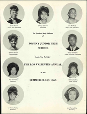 Page 7, 1963 Edition, Foshay Junior High School - Los Valientes Yearbook (Los Angeles, CA) online yearbook collection