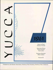 Page 7, 1961 Edition, Newbury Park Academy - Yucca Yearbook (Newbury Park, CA) online yearbook collection