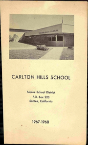 1968 Edition, Carlton Hills School - Yearbook (Santee, CA)