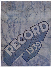1939 Edition, California State University Chico - Record Yearbook (Chico, CA)