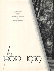 Page 8, 1939 Edition, California State University Chico - Record Yearbook (Chico, CA) online yearbook collection