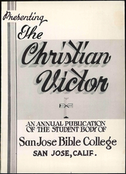 Page 9, 1952 Edition, San Jose Bible College - Victor Yearbook (San Jose, CA) online yearbook collection