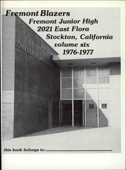 Page 5, 1976 Edition, Fremont Middle School - Yearbook (Stockton, CA) online yearbook collection