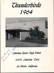 Page 3, 1964 Edition, Cedarlane Middle School - Thunderbird Yearbook (Hacienda Heights, CA) online yearbook collection