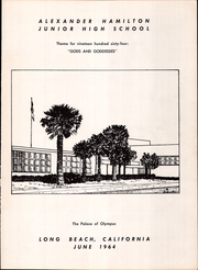 Page 3, 1964 Edition, Alexander Hamilton Middle School - Warrior Yearbook (Long Beach, CA) online yearbook collection