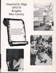 Page 5, 1974 Edition, Imperial Middle School - Excalibur Yearbook (La Habra, CA) online yearbook collection