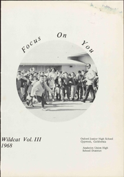Page 7, 1968 Edition, Oxford Junior High School - Wildcat Yearbook (Cypress, CA) online yearbook collection