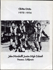 Page 5, 1974 Edition, John Marshall Junior High School - Obiter Dicta Yearbook (Pomona, CA) online yearbook collection