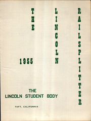 Page 7, 1955 Edition, Lincoln Junior High School - Railsplitter Yearbook (Taft, CA) online yearbook collection