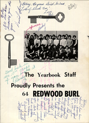 Page 5, 1964 Edition, Eureka Junior High School - Redwood Burl Yearbook (Eureka, CA) online yearbook collection