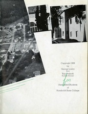 Page 5, 1938 Edition, Humboldt State University - Sempervirens Yearbook (Arcata, CA) online yearbook collection