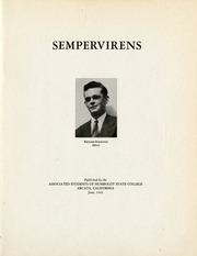 Humboldt State University Sempervirens Yearbook Arcata