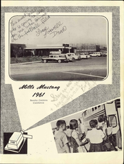 Page 5, 1961 Edition, Mills Middle School - Mustang Yearbook (Rancho Cordova, CA) online yearbook collection