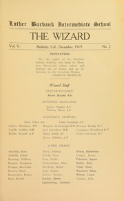 Page 3, 1919 Edition, Burbank Junior High School - Wizard Yearbook (Berkeley, CA) online yearbook collection