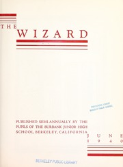 Page 5, 1940 Edition, Burbank Junior High School - Wizard Yearbook (Berkeley, CA) online yearbook collection