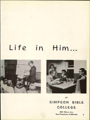 Page 7, 1959 Edition, Simpson Bible College - Gateway Yearbook (San Francisco, CA) online yearbook collection