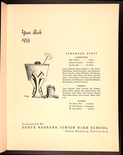 Page 5, 1953 Edition, Santa Barbara Junior High School - Condor Yearbook (Santa Barbara, CA) online yearbook collection