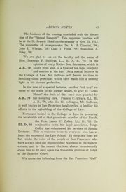 Page 47, 1912 Edition, St Ignatius College - Ignatian Yearbook (San Francisco, CA) online yearbook collection