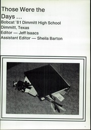 Page 5, 1981 Edition, Dimmitt High School - Bobcat Yearbook (Dimmitt, TX) online yearbook collection