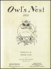 Page 7, 1951 Edition, Garland High School - Owls Nest Yearbook (Garland, TX) online yearbook collection