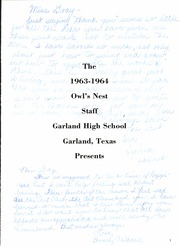 Page 5, 1964 Edition, Garland High School - Owls Nest Yearbook (Garland, TX) online yearbook collection