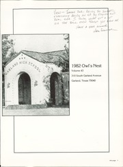 Page 5, 1982 Edition, Garland High School - Owls Nest Yearbook (Garland, TX) online yearbook collection