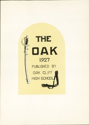 Page 7, 1927 Edition, Adamson High School - Oak Yearbook (Dallas, TX) online yearbook collection