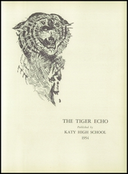 Page 7, 1954 Edition, Katy High School - Tiger Echo Yearbook (Katy, TX) online yearbook collection