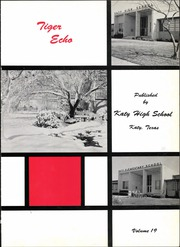 Page 5, 1960 Edition, Katy High School - Tiger Echo Yearbook (Katy, TX) online yearbook collection