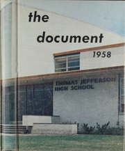 Page 1, 1958 Edition, Thomas Jefferson High School - Document Yearbook (Dallas, TX) online yearbook collection